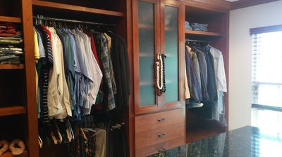 It's not always easy to declutter your home but the effort is worth it.  Just look at this downsized closet.